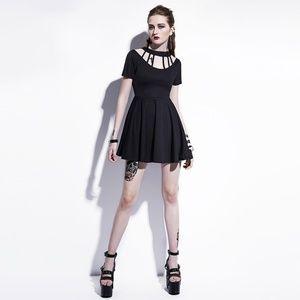 Cage Neck Mini Dress